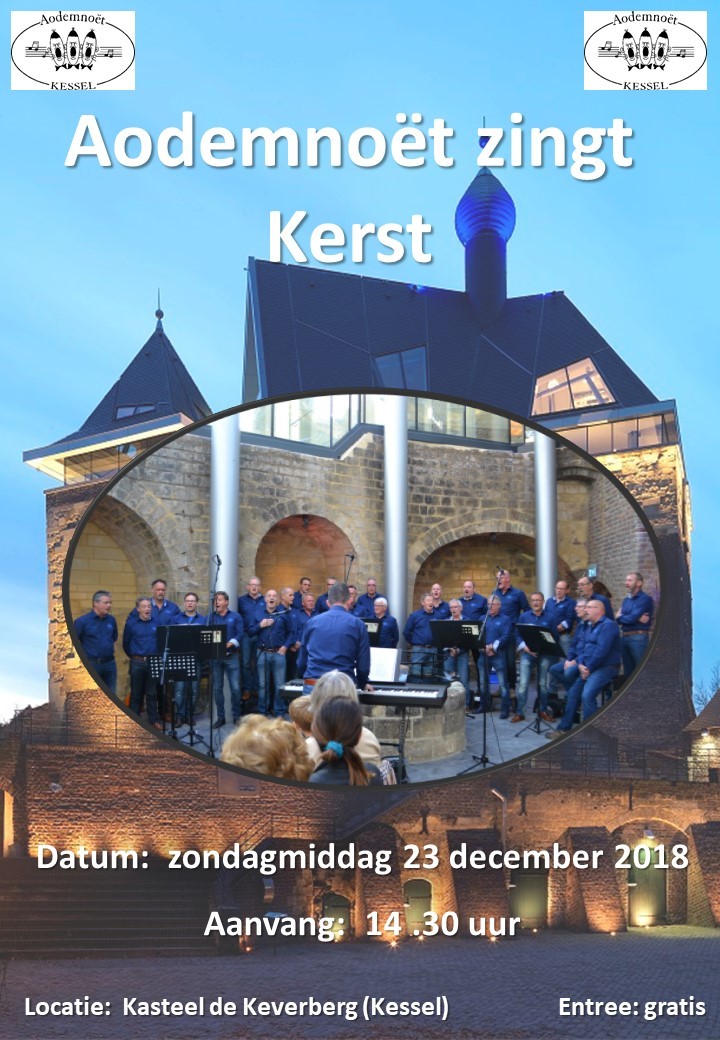 Poster kerstconcert Aodemnoet 23-12-18